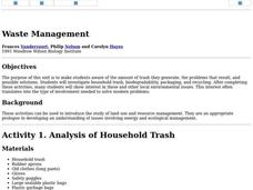 Waste Management Lesson Plan