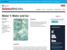 Water and Ice Lesson Plan