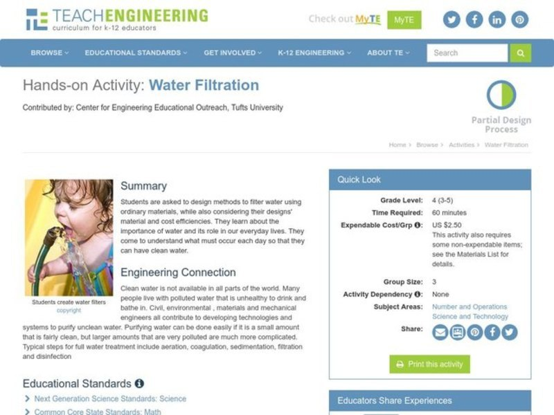 Water Filtration Lesson Plan
