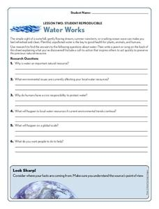 Water Works Worksheet