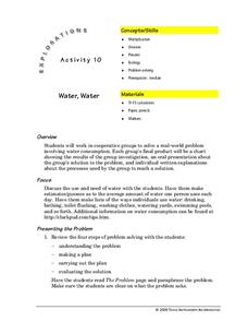Water, Water Lesson Plan