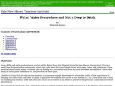 Water, Water Everywhere and Not a Drop to Drink Lesson Plan