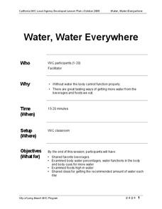 drinking water nutrition lesson plans worksheets. Black Bedroom Furniture Sets. Home Design Ideas