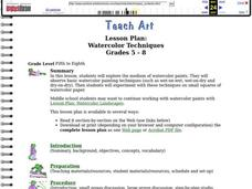 Watercolor Techniques Lesson Plan