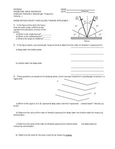 Wave Behavior Worksheet