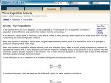 Wave Equations Lesson Plan