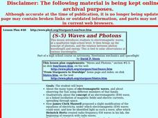 Waves and Photons Lesson Plan