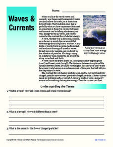 Waves and Currents Worksheet