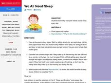 We All Need Sleep Lesson Plan