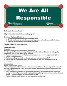 We Are All Responsible Lesson Plan