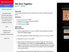 We Give Together Lesson Plan