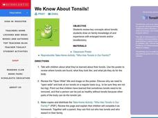 We Know About Tonsils Lesson Plan