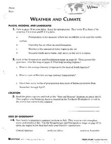 weather and climate worksheet for 7th 8th grade lesson planet. Black Bedroom Furniture Sets. Home Design Ideas