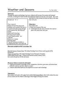 Weather and Seasons Lesson Plan