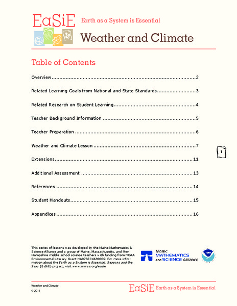 Weather and Climate Lesson Plan
