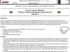 Weather Conditions During the Spring Monarch Migration Lesson Plan