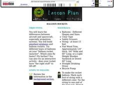 Balloon Rockets Lesson Plan