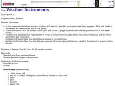 Weather instruments Lesson Plan