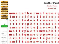 Weather Puzzle Worksheet