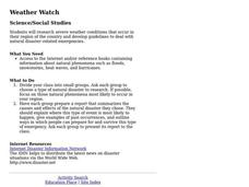 Weather Watch Lesson Plan