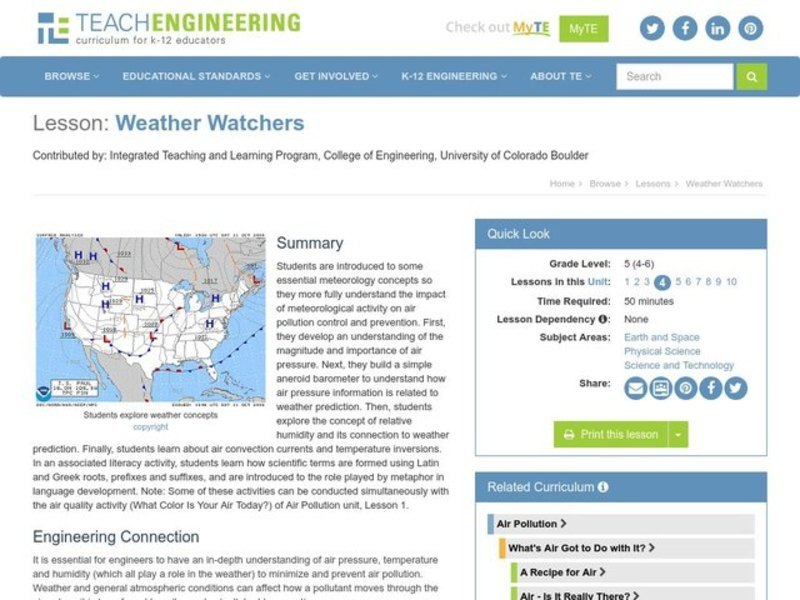 Weather Watchers Lesson Plan