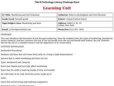 Weathering and Soil Formation Lesson Plan