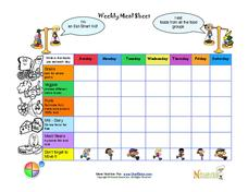 Weekly Meal Sheet Printables & Template