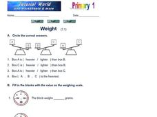 Weight Worksheet