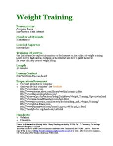 Weight Training Lesson Plan