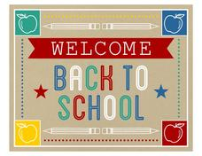 Welcome Back to School Printables & Template
