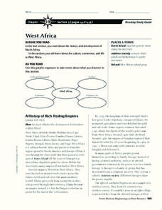 West Africa Graphic Organizer