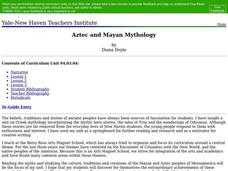 Aztec and Mayan Mythology Lesson Plan