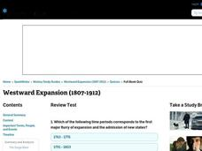 Westward Expansion (1807-1912)      Interactive