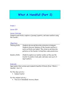 What A Handful! Lesson Plan