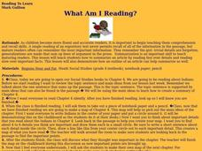 What Am I Reading? Lesson Plan