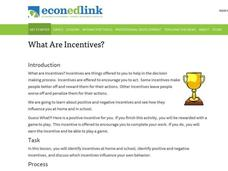 What are Incentives? Lesson Plan