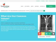 What Are Our Common Values? Lesson Plan