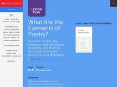 What are the Elements of Poetry Lesson Plan