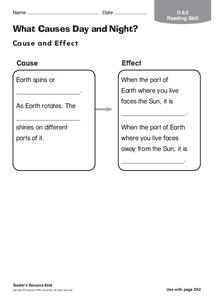 What Causes Day and Night? Worksheet