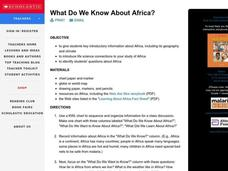 What Do We Know About Africa? Lesson Plan