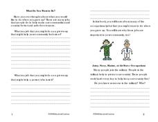 What Do You Want to Be? Worksheet