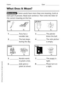 What Does It Mean? Worksheet