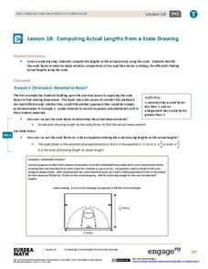 Computing Actual Lengths from a Scale Drawing Assessment