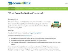 What Does the Nation Consume? Lesson Plan