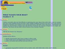 What Floats Your Boat? Lesson Plan