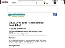"What Does Your ""Homunculus"" Look Like? Lesson Plan"