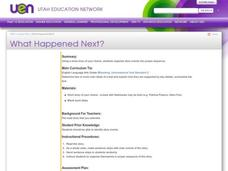 What Happened Next? Lesson Plan
