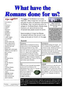 What Have the Romans Done for Us? Worksheet