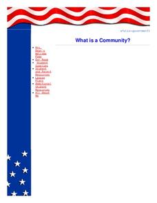 What is a Community? Lesson Plan