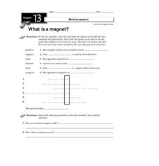 What is a Magnet? Worksheet